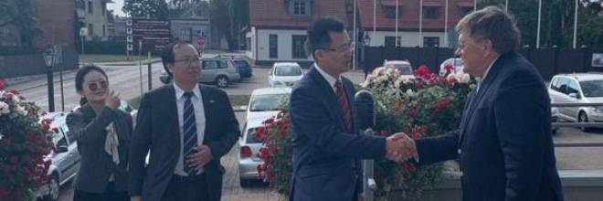 The management of the Embassy of the People's Republic of China in Latvia visits Ventspils