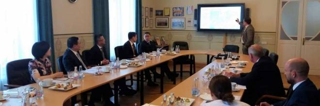 The visit of Pudong New Area's delegation to Ventspils