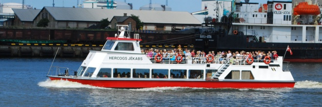 "The Freeport of Ventspils, pleasure boat ""Hercogs Jēkabs"", tourism, leisure, river Venta"
