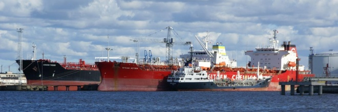The Freeport of Ventspils, services at the port, handling of liquid and dry bulk and general cargo, vessel services, the largest vessels that enter the Baltic Sea,